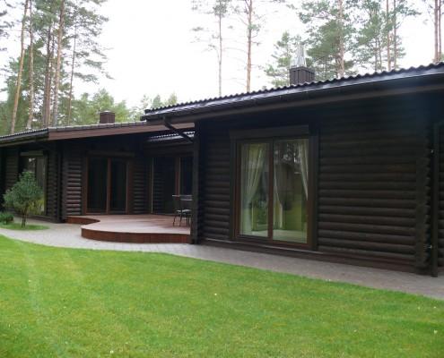 Modernus rąstinis namas
